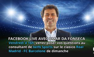 Omar Da Fonseca sera en Facebook Live vendredi à 16h
