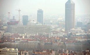 Une vue de Lyon le 14 mars 2014