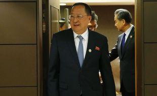 Le ministre des Affaires étrangères nord-coréen Ri Yong-ho à Manille, le 6 août 2017.