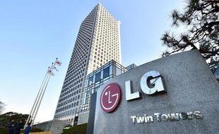 Le siège de la compagnie LG à Séoul le 26 décembre 2014