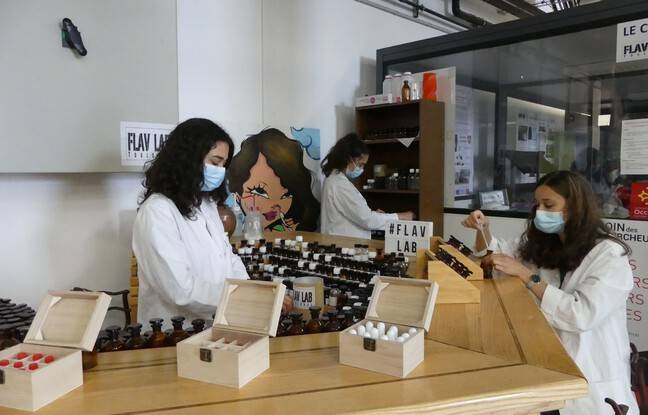 Les trois étudiantes du laboratoire FLAV LAB de l'INP ont planché sur un kit de senteurs pour aider les patients à recouvrer la mémoire olfactive.