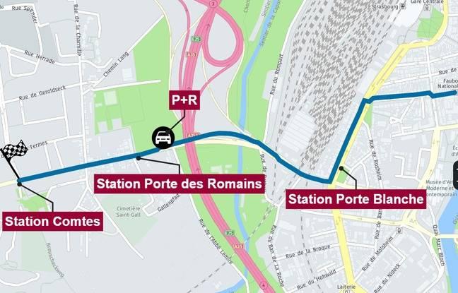 L'extension Ouest du tram F