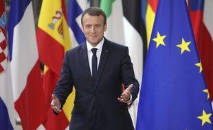 Emmanuel Macron au conseil européen à Bruxelles le 22 juin 2017.