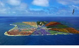 """Le projet """"Recycled Island"""" du cabinet WHIM, propose de créer une île avec les millions de tonnes de déchets plastiques"""