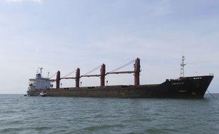 Cette photo non datée publiée par le Département américain de la justice, le jeudi 9 mai 2019, montre le cargo nord-coréen Wise Honest.