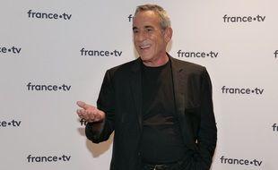 Thierry Ardisson au photocall de la conférence de presse de rentrée de France Télévisions, à Paris, le 24 août 2021.