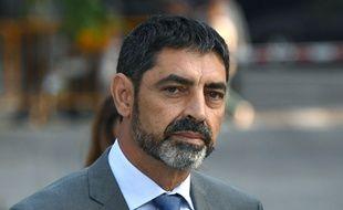 Le chef opérationnel de la police catalane Josep Lluis Trapero a été destitué le 28 octobre 2017.