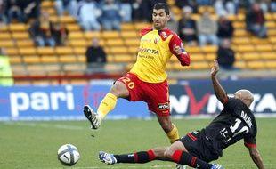 Adil Hermach, le 17 ocotbre 2010, contre Rennes, à Lens.