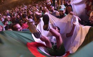 Les Algériens fêtent la qualification pour la finale de la CAN, en 2019 (photo d'illustration).