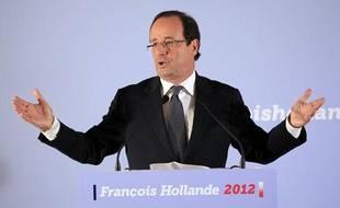 Le candidat PS à la présidentielle 2012, François Hollande, le 9 novembre 2011, à Paris.
