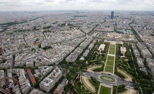 Illustration d'une vue aérienne de Paris.