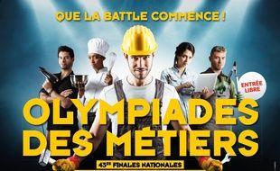Affiche des 43e finales nationales des Olympiades des métiers.