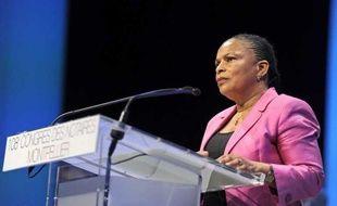 La ministre de la Justice Christiane Taubira, le 24 septembre 2012, lors du Congrès des notaires àMontpellier.