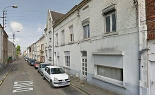 La rue Victor Hugo, à Hautmont.