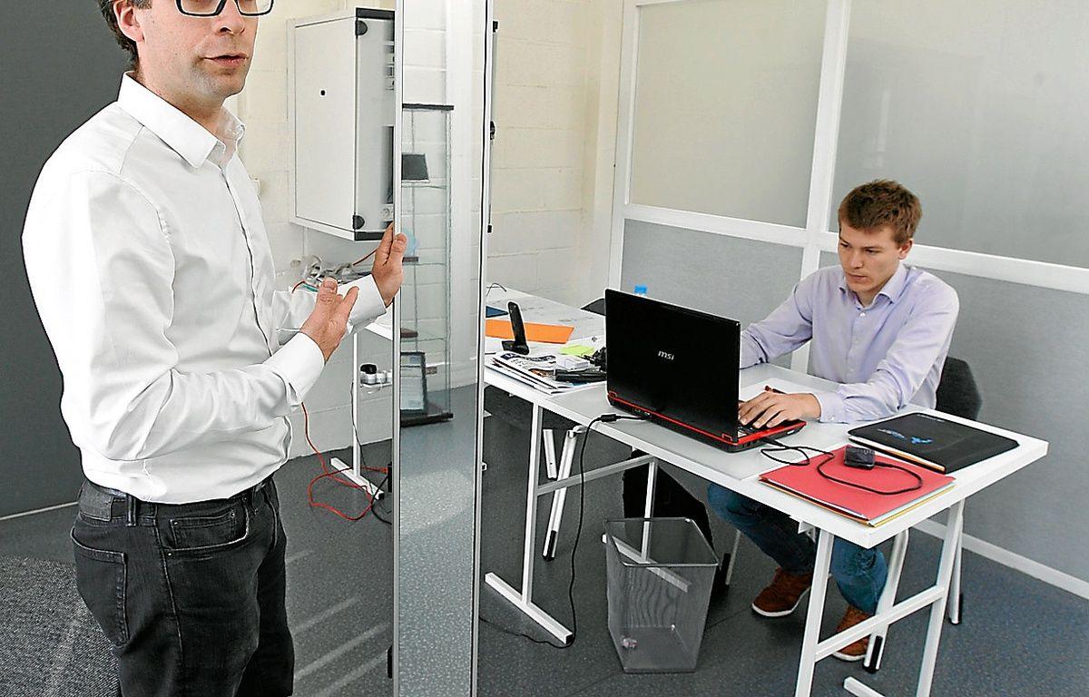 Alexi Hervé (à gauche) et son directeur technique Maxime Beauquis. – M. Libert / 20 Minutes