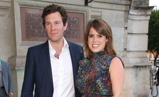 La princesse Eugenie et son fiancé.