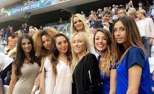 Les épouses des joueurs tricolores soutiennent l'équipe de France sur chaque match de l'Euro 2016.