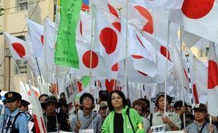 Des centaines de Japonais se sont pour la première fois rassemblés samedi à Tokyo pour manifester contre Pékin, après une semaine entière de manifestations anti-japonaises en Chine autour d'un conflit territorial en mer de Chine orientale.