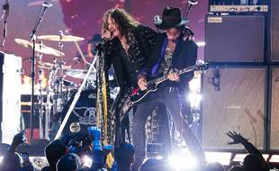 Les musiciens Steven Tyler et Joe Perry d'Aerosmith