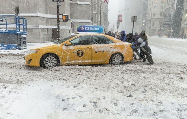 Manhattan était paralysé par la neige et des températures galciales, ce 4 janvier 2018.