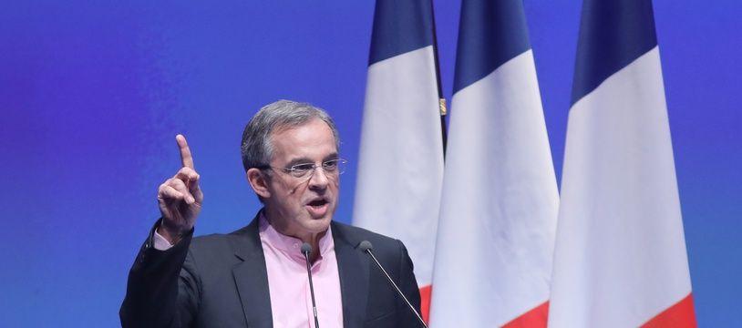 Thierry Mariani, lors du meeting du Rassemblement national pour le lancement de la campagne des élections européennes, le 13 janvier 2019, à Paris.