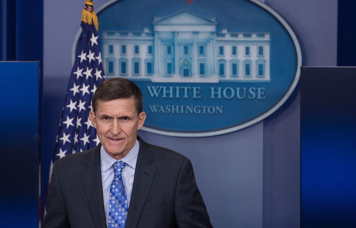Michael Flynn, conseiller de Donald Trump sur la sécurité intérieure a démissionné lundi 13 février 2017 seulement quatre jours après son entrée en fonction. – AFP