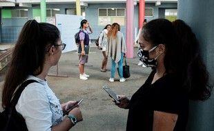 Dans un lycée de Nouméa, en Nouvelle-Calédonie, lors du déconfinement, en avril. (archives)