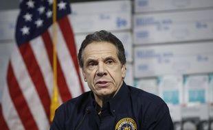 Le gouverneur de l'Etat de New York, Andrew Cuomo, fait le point sur la crise du coronavirus, le 24 mars 2020.