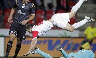 Le Slavia a lourdement chuté à domicile (5-1) devant Adil Rami et ses coéquipiers en Ligue Europa, le 1er octobre 2009.