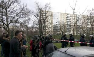 Les médias internationaux couvrent l'événement de la prise d'otage d'Hyper cacher, porte de Vincennes, le 9 janvier 2015.