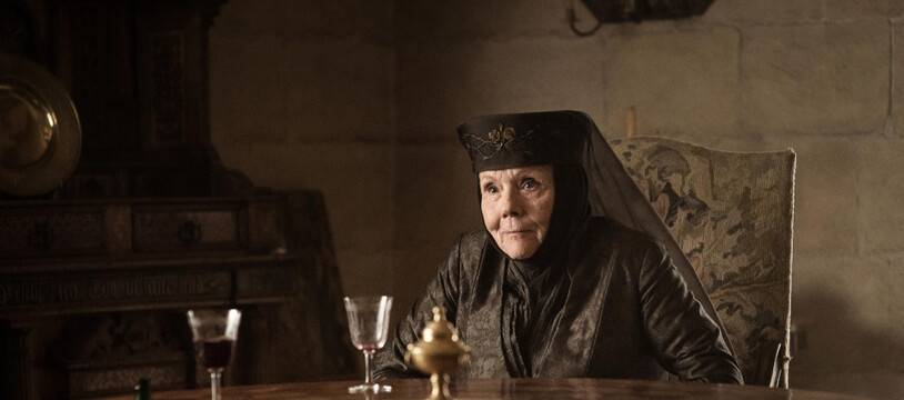 L'actrice Diana Rigg sous les traits de Lady Olenna Tyrell dans Game of Thrones