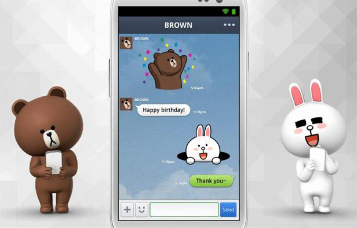 Capture d'écran de l'application mobile Line. – LINE