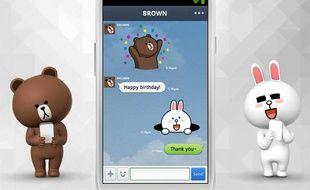 Capture d'écran de l'application mobile Line.