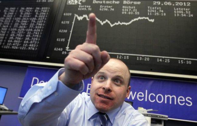 A la bourse de Francfort, vendredi 29 juin 2012.