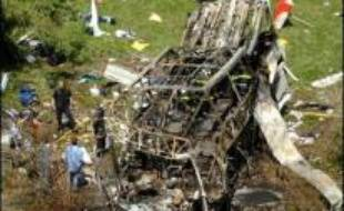 L'accident de l'autocar qui s'est écrasé dans un torrent à Vizille (Isère) dimanche matin avec à son bord une cinquantaine de pélerins polonais, a fait 21 morts, 24 blessés dont 12 graves et 6 disparus selon un nouveau bilan provisoire, ont indiqué les pompiers.