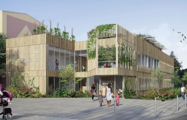 Image de synthèse de la future maison de santé de Bellevue (Nantes)