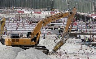 Le chantier du stade Al-Wakra, l'une des enceintes de la Coupe du monde 2022.
