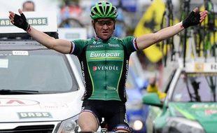 Le Français Thomas Voeckler (Europcar), le 11 avril 2012, en Belgique.