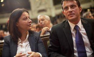 Cécile Duflot et Manuel Valls le 5 octobre 2012 à Paris.