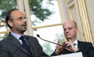 Edouard Philippe et Jean-Michel Blanquer, le 6 juin 2018 à Matignon.