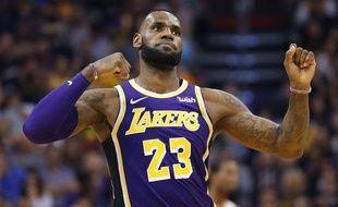 LeBron James a remporté son premier match avec les Lakers face aux Phoenix Suns, le 24 octobre 2018.