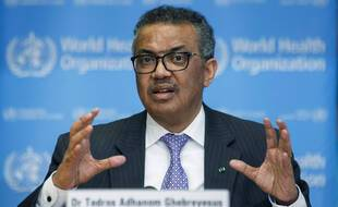 Tedros Adhanom Ghebreyesus, le 9 mars 2020 à Genève.