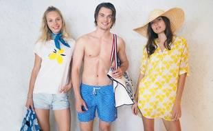 La collection propose notamment des tenues de plage (évidemment)