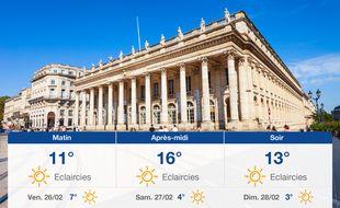 Météo Bordeaux: Prévisions du jeudi 25 février 2021