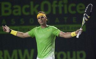 Le tennisman espagnol Rafael Nadal, lors de sa victoire contre Tomas Berdych, le 31 mars 2011 à Miami.
