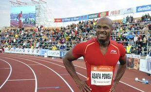 Le Jamaïcain Asafa Powell, le 27 juin 2013 à Ostrava (République Tchèque).