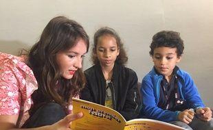 Anaïs Demoustier et deux jeunes jurés de Mon premier festival