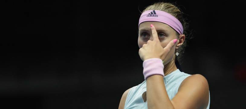 Kristina Mladenovic a éliminé la numéro 1 mondiale Naomi Osaka lors du tournoi de Dubaï, le 19 février 2019.