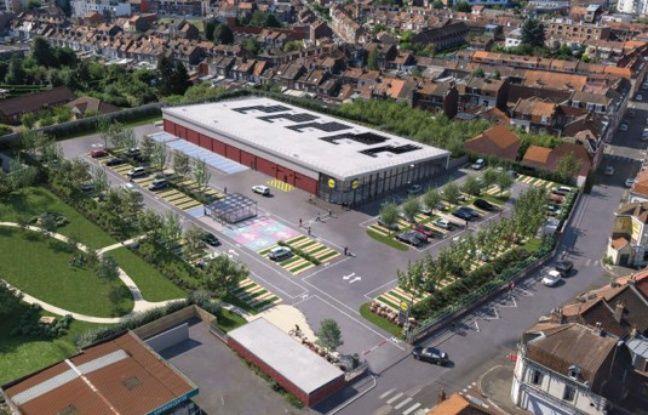 Le projet de magasin Lidl entre Hellemmes et Fives.