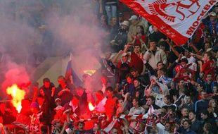 Le public du Spartak de Moscou lors d'un match de Ligue des champions, le 23 août 2008